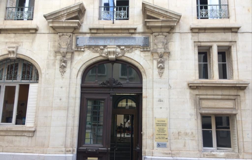 Devanture du CCAS de Béziers